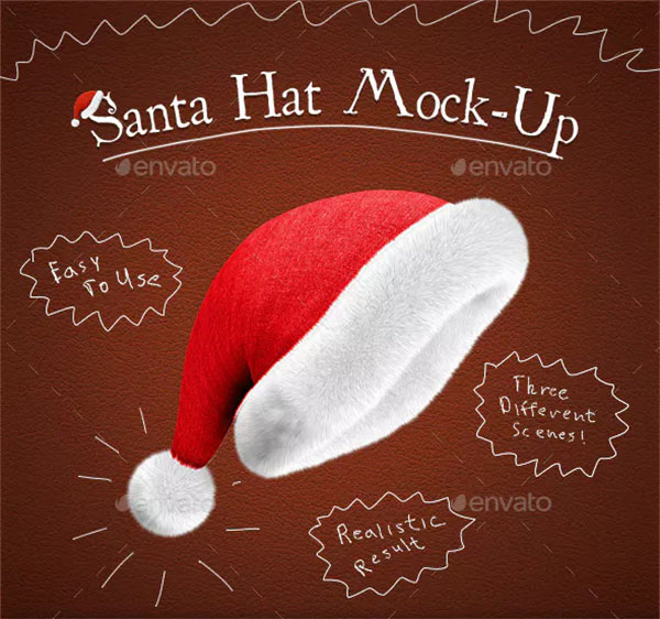 Santa Hat Mock-Up