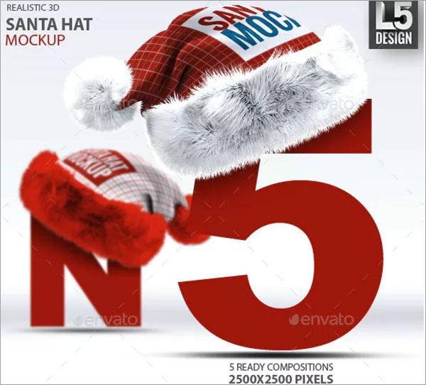 Santa Hat Mock-up Design