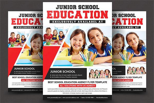 School Education Flyer PSD Templates
