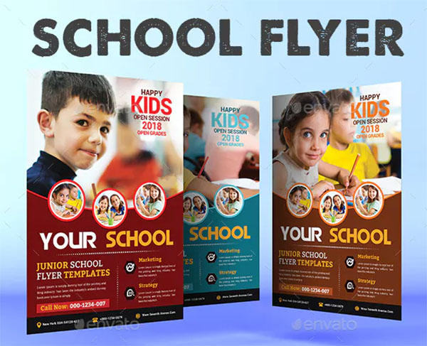 School Education PSD Flyer