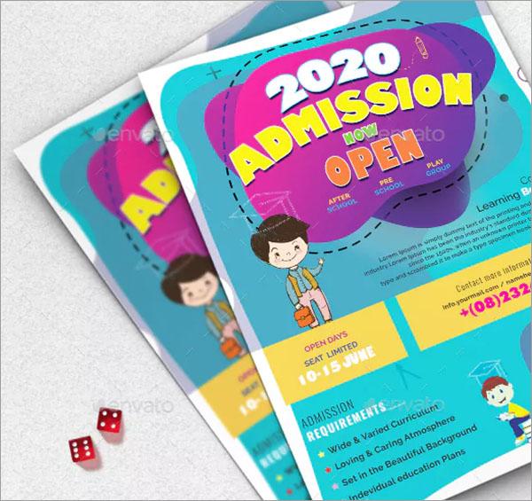 School Flyer PSD Design