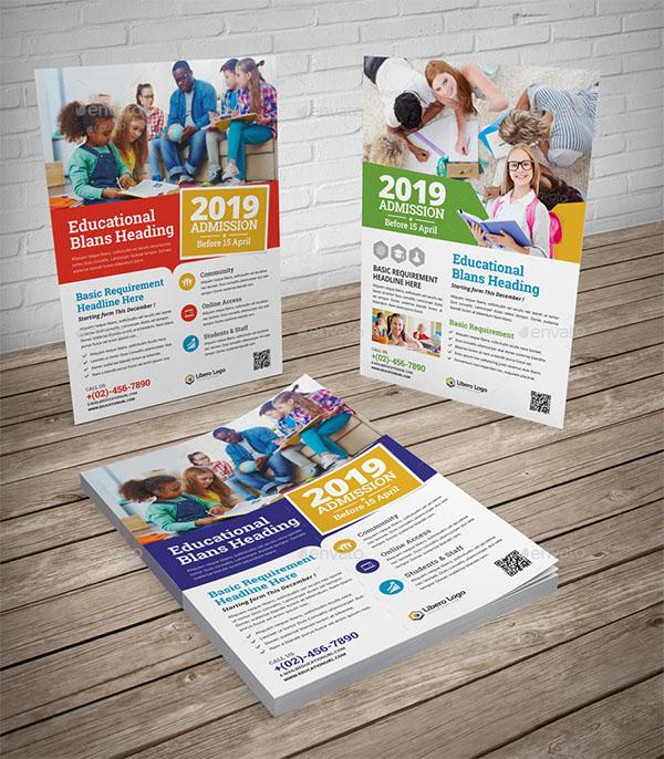 School Study Promotion Flyer Design