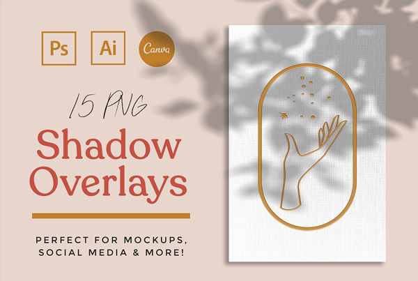 Shadow Mockup Overlays Free Download