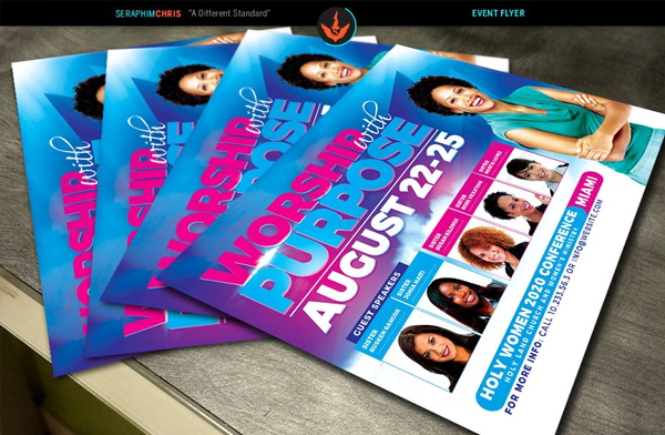 Simple Women Conference Flyer Template