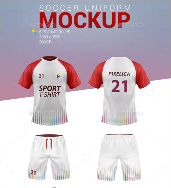 Soccer Football Uniform Mockups