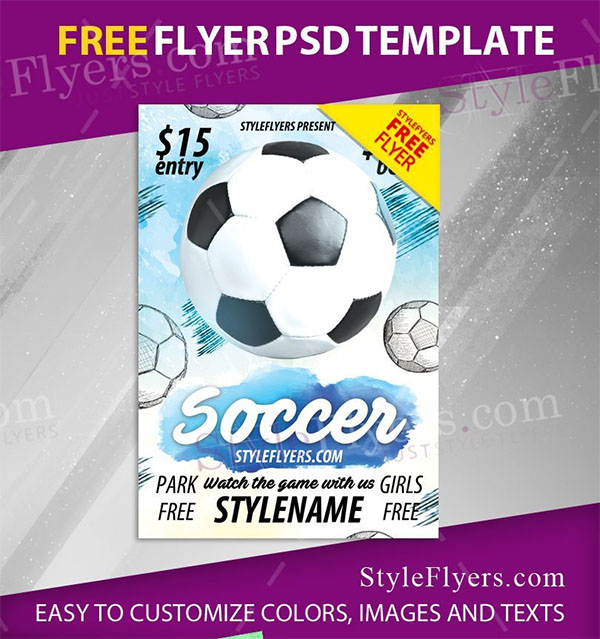 Soccer Free PSD Flyer Template
