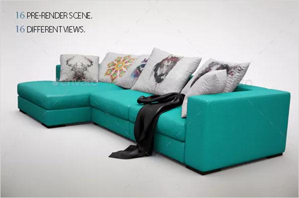 Sofa Pillows MockUp