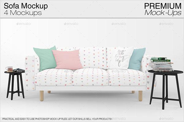 Sofa & Pillows Mockup Pack