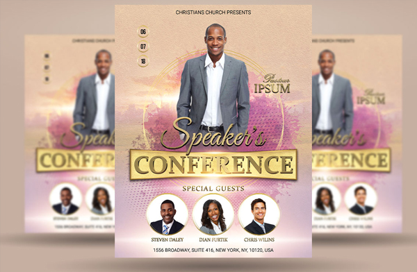 Speaker's Church Conference Flyer Poster