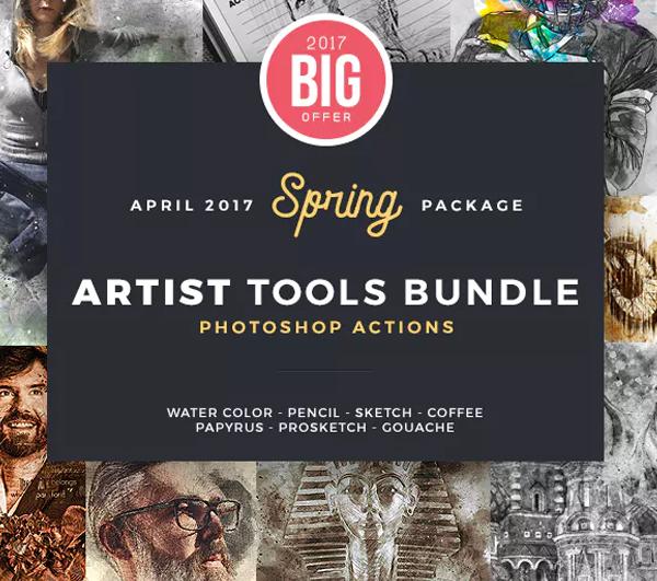 Spring Photoshop Actions Bundle
