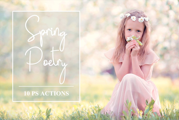 Spring Poetry Photoshop Actions