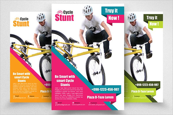 Standard Bicycle Racing Flyer Template