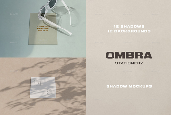 Stationery Shadow Mockups