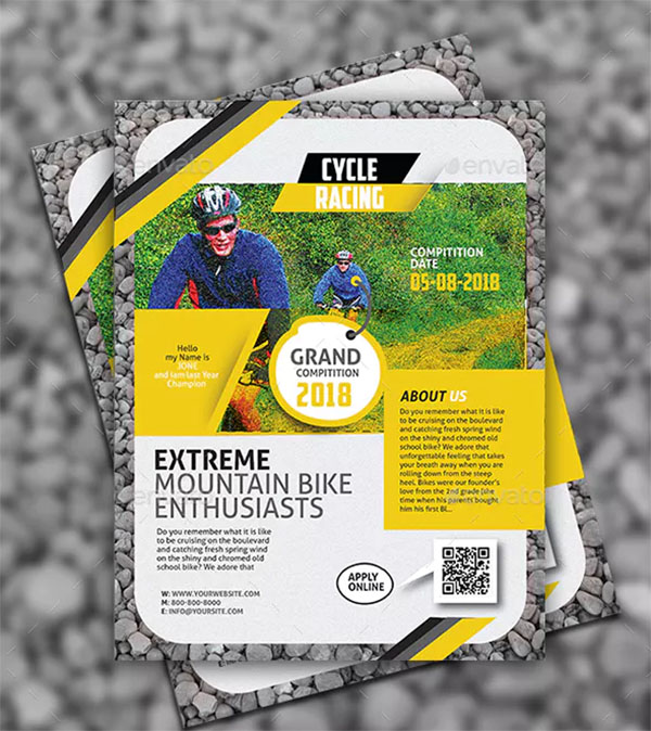 Stylish Bicycle Flyer Templates