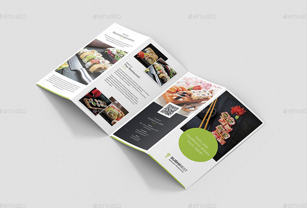 Sushi Restaurant Brochure Template