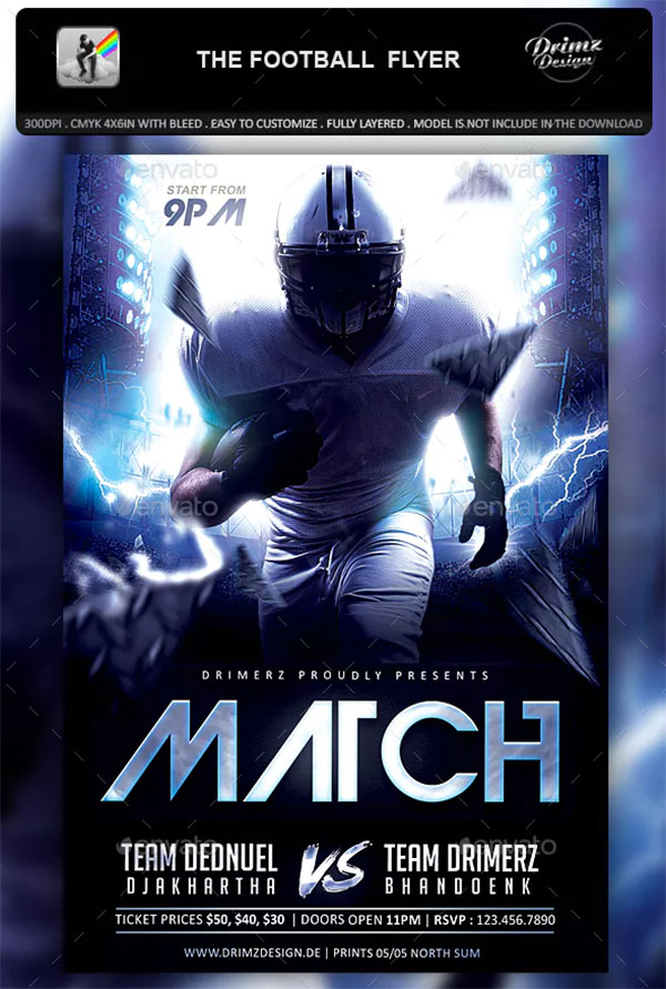 The Football Flyer Design
