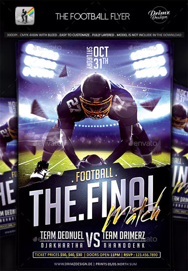 The Football Flyer Template
