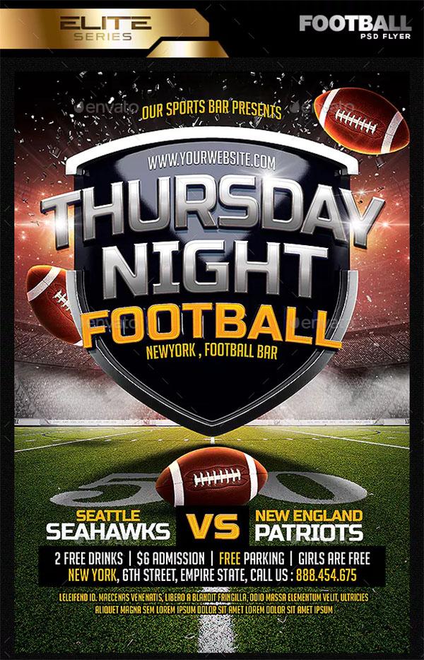 Thursday Night Football Flyer