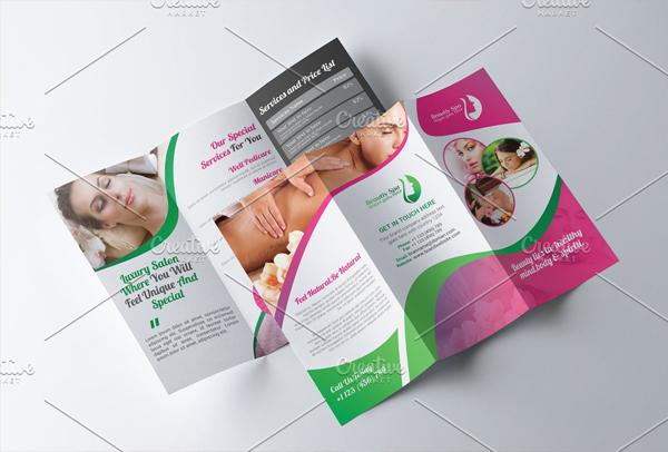 Tri fold Spa Beauty Salon Brochure