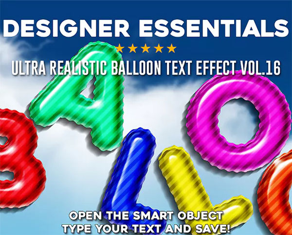 Ultra Realistic Balloon PSD Text Effect