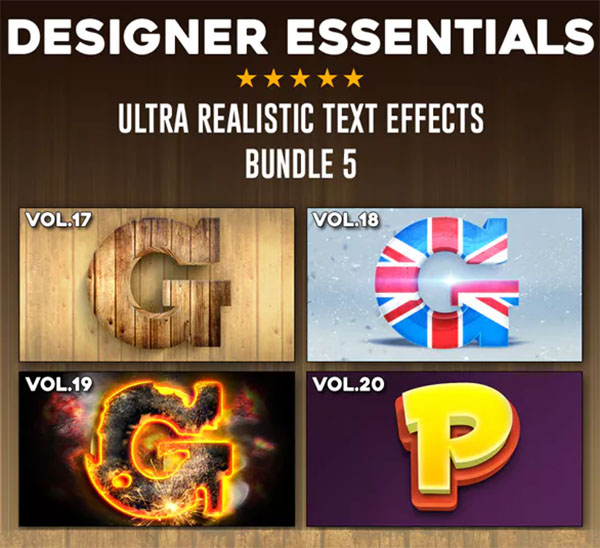 Ultra Realistic Text PSD Effect Balloon Bundle