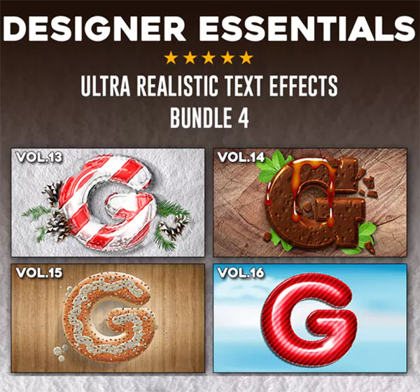 Ultra Realistic PSD Text Effect Bundle