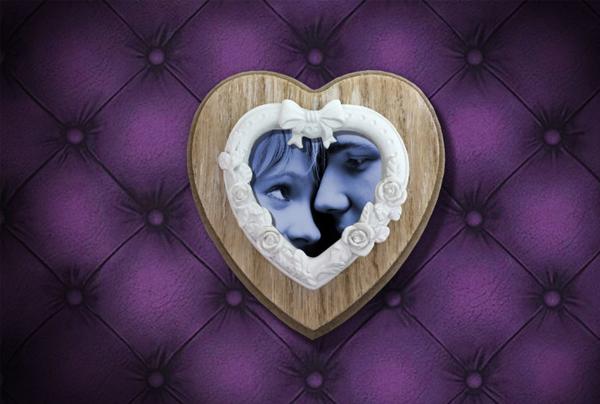 Valentine Love Heart Frame Mockup