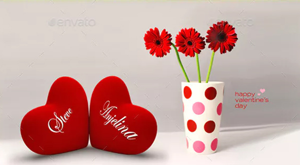 Valentine's Heart Pair Mock-Up Set
