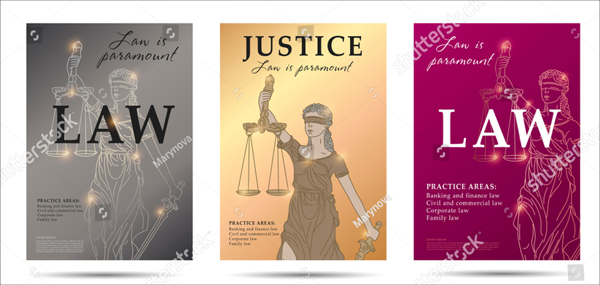 Vector Law Set of Flyers