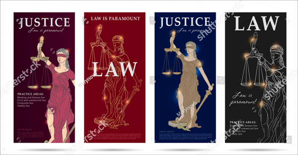Vector Law and Justice Flyers Set