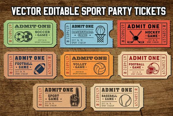 Vector Sport Tickets Templates
