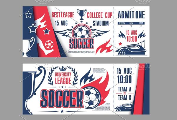 Vector Tickets of Football
