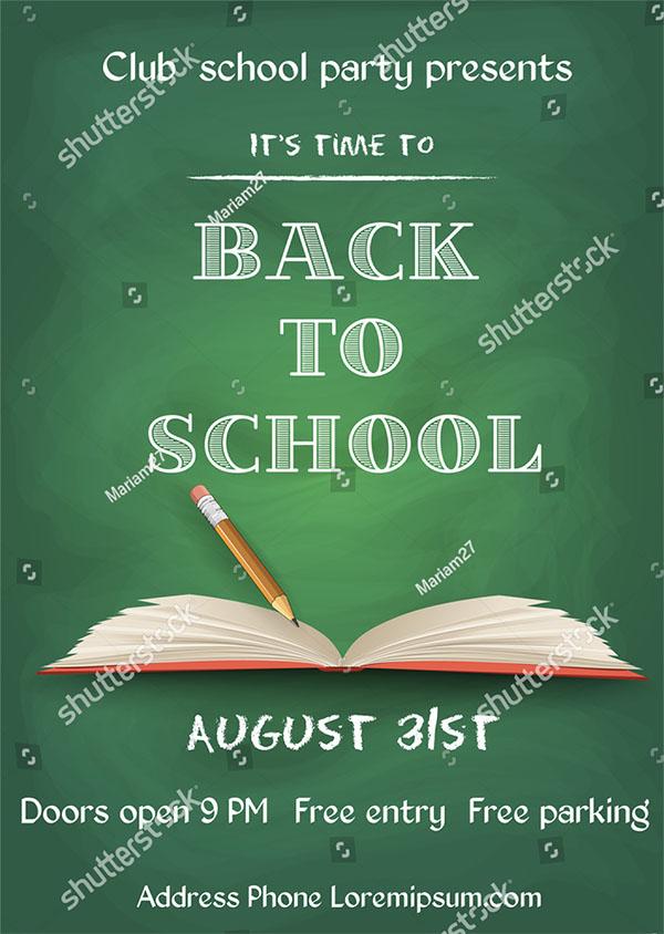 Vector illustration of Back to School Flyer