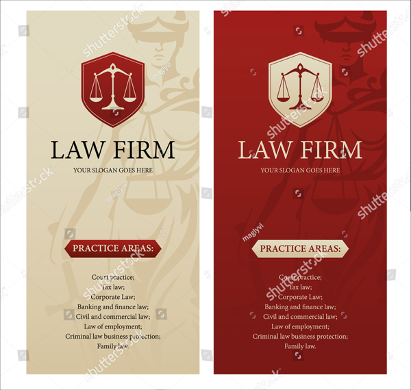 Vertical Lawyer Flyer Design Template
