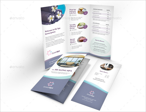Wellness Spa Trifold Brochure