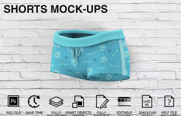 Woman Clothing Shorts Mockups