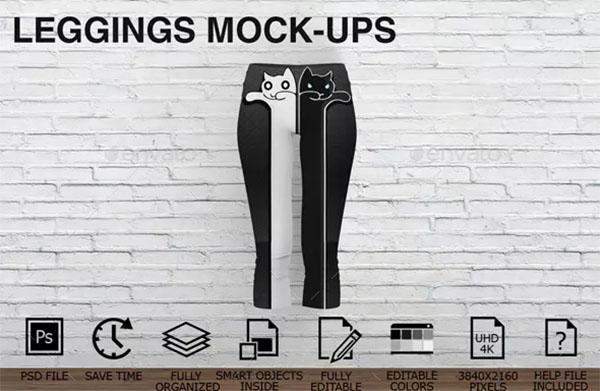 Women Clothing Leggings Mockup