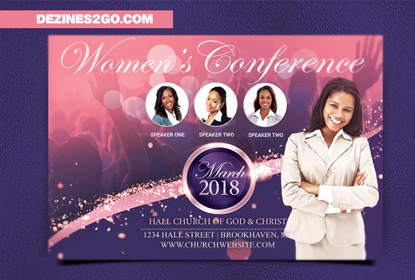 Women's Conference Flyer Design Template