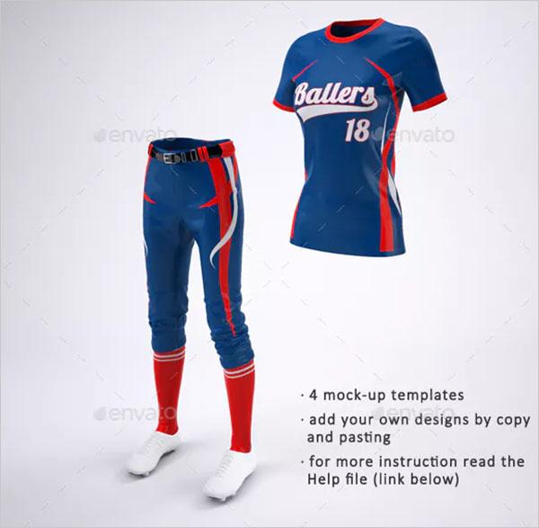 Women's Softball Jerseys and Uniform Mock-Up
