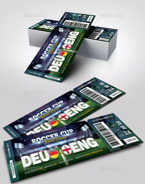 World Soccer Cup Russia Ticket