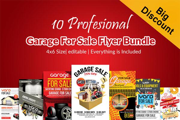 10 Garage Sale Promotion Poster Bundle