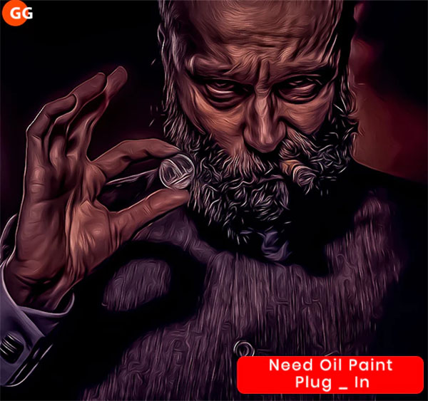 10 Oil Painting Photoshop, ATN Action