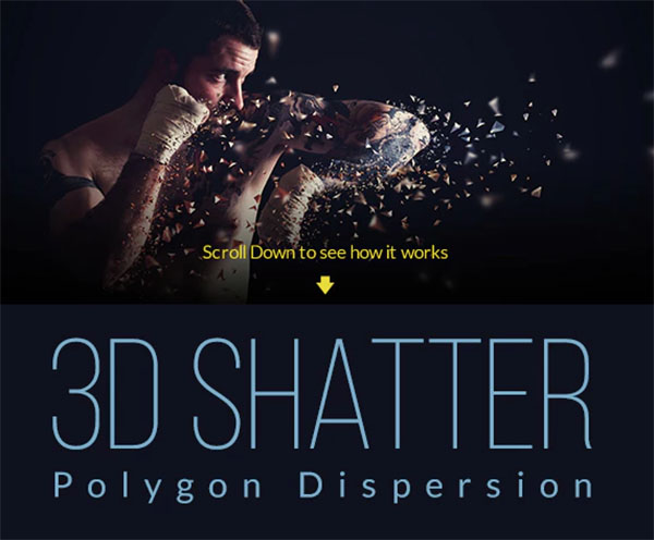 3D Polygon Shatter Photoshop Action