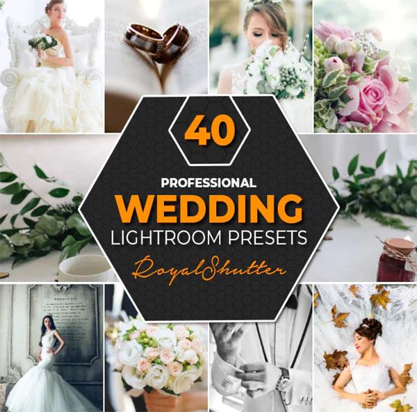 40 Pro Wedding Lightroom Presets