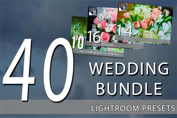 40 Wedding LightRoom Presets Bundle