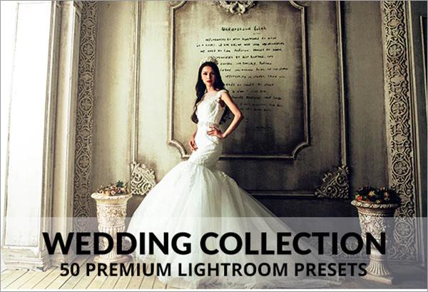50 Premium PSD Wedding Lightroom Presets