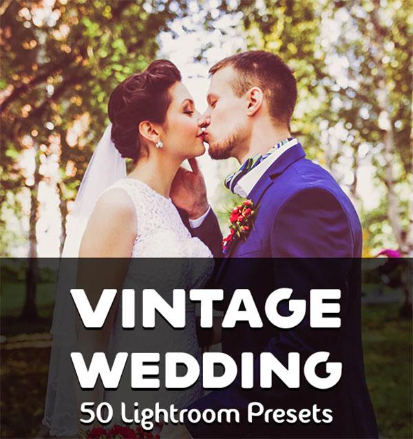 50 Vintage Wedding Lightroom Presets