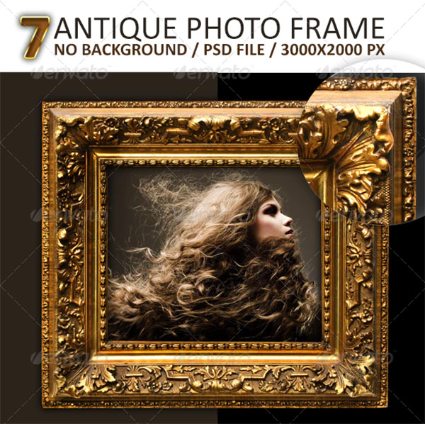 7 Antique Photo Frames