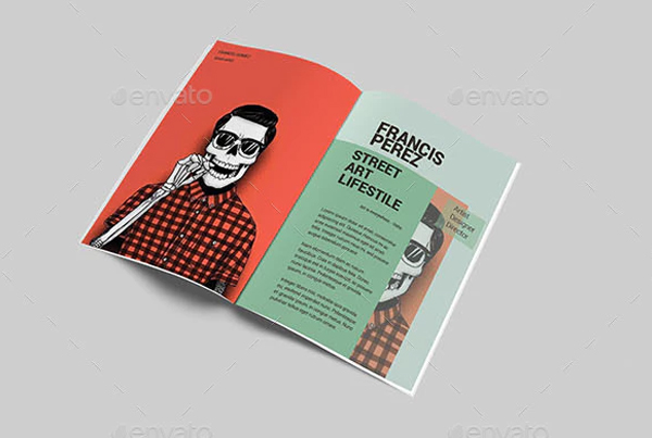 A4 Street Art Editorial Brochure