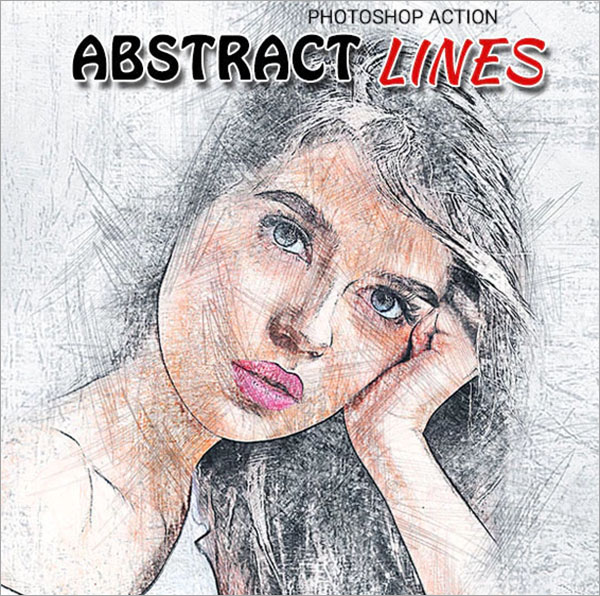 Abstract Lines Photoshop Action